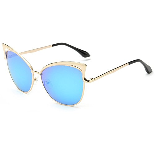 linyuan Fashion para mujer de ojo de gato gafas de sol UV400gafas de mejor 923# azul