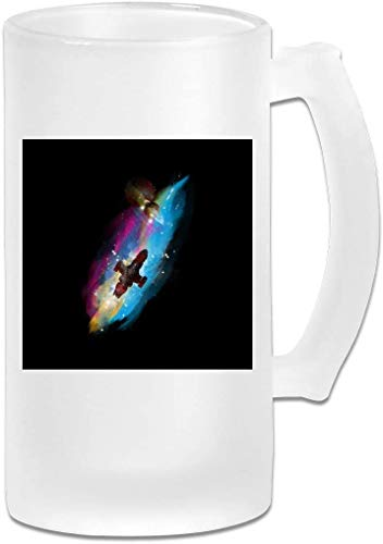 HKYP jarro de cerveza Printed 16oz Frosted Glass Beer Stein Mug Cup - Man And Fisto Hang Out - Graphic Mug