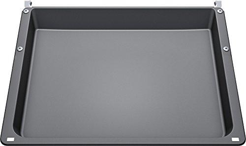 Bosch HEZ542000 Accessoires pour four/Poêle universelle/Gris/Émaillé/Pour cuisinière avec chariot de cuisson/Passe au lave-vaisselle