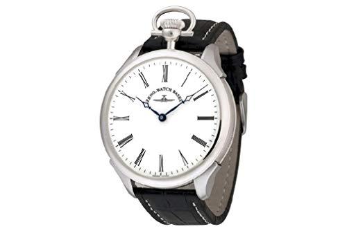 Zeno Watch Basel Herren Uhr Analog Mechanik mit Leder Armband Buser-i2-rom