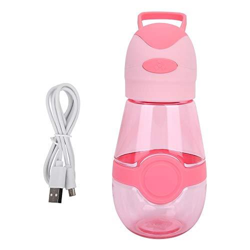DEWIN draagbare mini-ventilatorfles, mini-ventilator, draagbare flessen voor buiten, sport, strand, camping, zomer, USB-oplaadfles