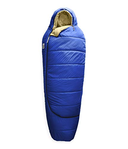 The North Face Eco Trail - Sacco a Pelo Sintetico, da Uomo, Uomo, TNF Blu/Canapa, Long Right Zip