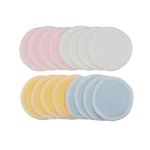 Lot de 8 tampons démaquillants réutilisables en coton avec sac à linge, doux et lavables pour soins de la peau du visage, sans stimulation