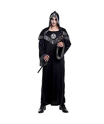 Hipex Collection Disfraz de Cosplay para hombres, Halloween, Carnaval, Fiestas, Disfraces Adultos Hombre (Brujo, S)
