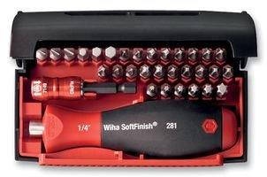 Wiha Bit Collector Standard 32-teilig/Gemischtes Schrauberbit-Set inkl. Bithalter mit Handgriff und Schnellwechselhalter / 1/4