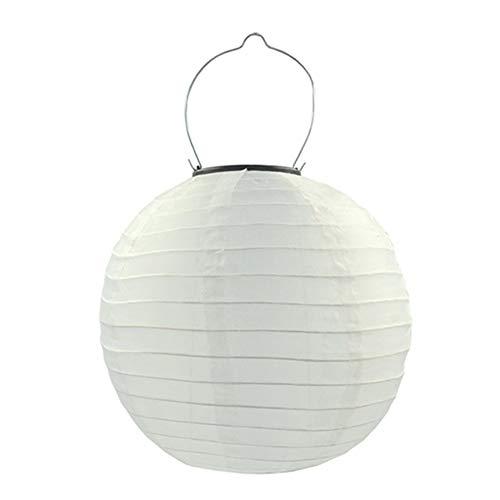 Zoloyo Linterna LED solar, luz china linterna 30 cm jardín iluminación decoración fiesta lámpara colgante regalo artesanía diy lampion colgante linterna bola