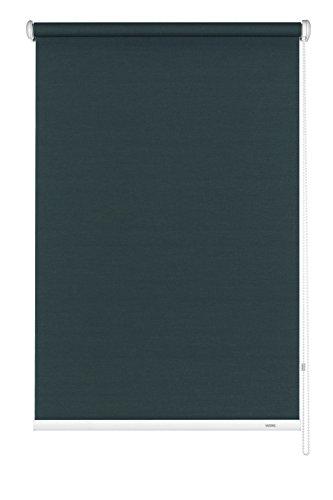 GARDINIA Seitenzug-Rollo zum Abdunkeln, Decken-, Wand- oder Nischenmontage, Lichtundurchlässig, Alle Montage-Teile inklusive, Grau, 102 x 180 cm (BxH)