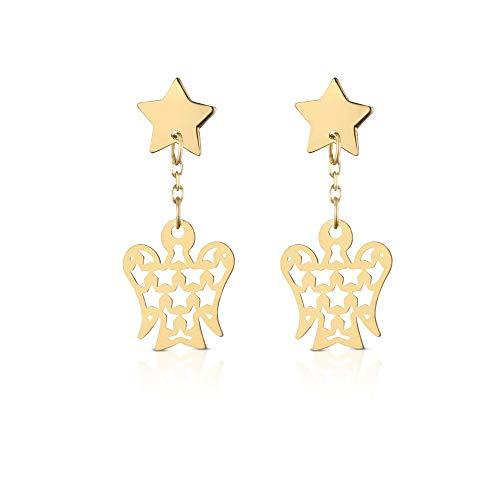 Orecchini angeli e stella ROBERTO GIANNOTTI in oro giallo NKT282