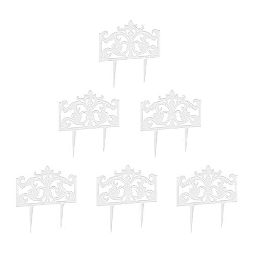 6x Beetzaun Gusseisen Beetbegrenzung Beeteinfassung Beetumrandung Beetabgrenzung HUIJK