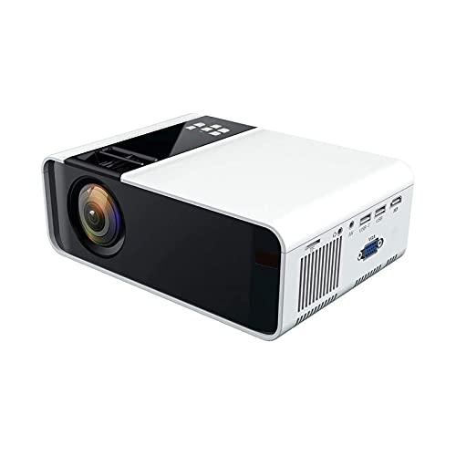 XTZJ Mini Projector, proyector LCD portátil de 2000 LCD portátil [150 'Pantalla de proyector incluida] Full HD 1080P compatible, compatible con smartphone, TV Stick, Juegos, HDMI, AV, proyector para p