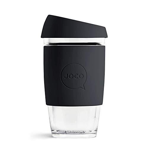 JOCO 16oz Glass Reusable Coffee Cup (Black) by JOCO