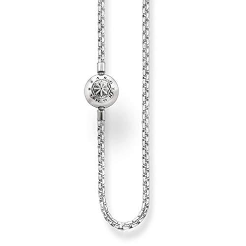 Thomas Sabo Damen-Kette Karma Beads 925 Sterling Silber Länge 45 cm KK0001-001-12-L45