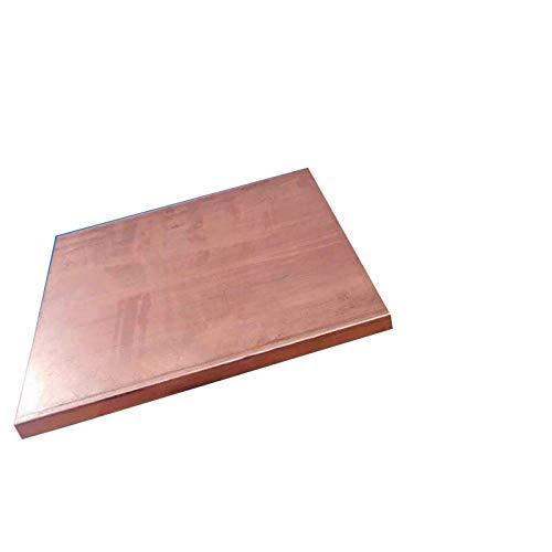 F-MINGNIAN-TOOL, FMN-Tape, 1pc 200 * 200 mm de Cobre púrpura CU Metal Material de Bricolaje Material Hecho a Mano Hoja de Cobre de la Placa (tamaño : 200x200x0.8mm)