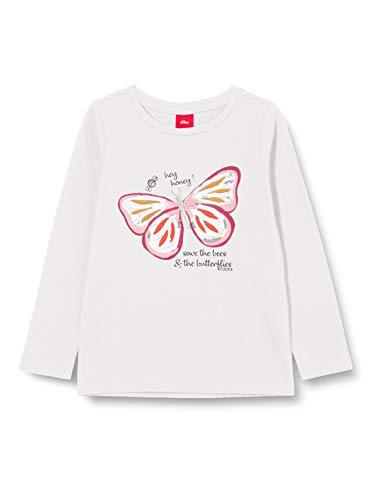 s.Oliver Junior Mädchen 403.12.009.12.130.2042388 T-Shirt, Off-White, 92/98/REG