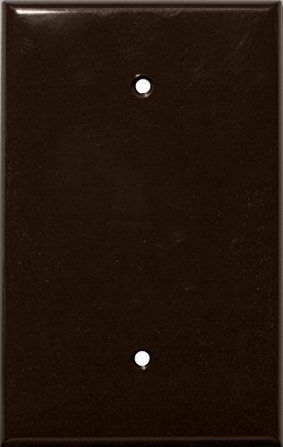 Morris 81842 Lexan Wall Plate, Oversize Blank, 1 Gang, Brown