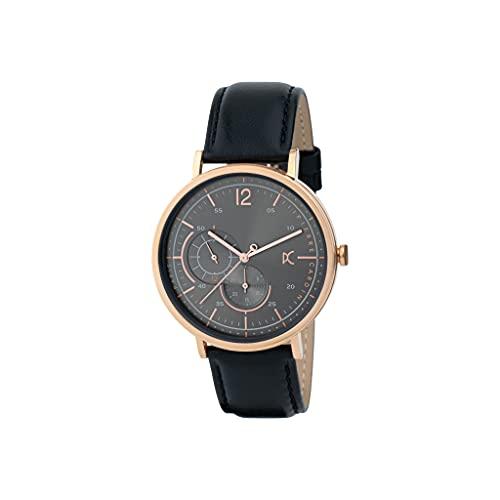 Pierre Cardin Bonne Nouvelle Stride CBN.3023 - Reloj de pulsera de cuarzo para hombre de acero inoxidable con correa de piel