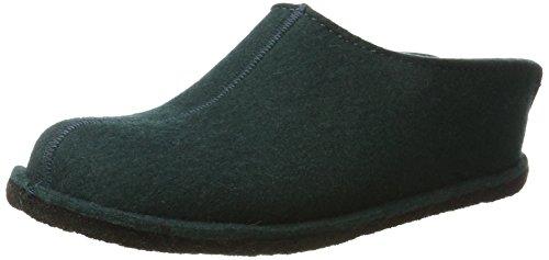 Haflinger Flair Smily, Pantoffeln, Unisex-Erwachsene, Filz aus reiner Wolle, Grün (Tannengrün), 41 EU