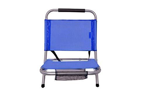 Spiaggina pieghevole portatile in textilene con tracolla sedia richiudibile mare