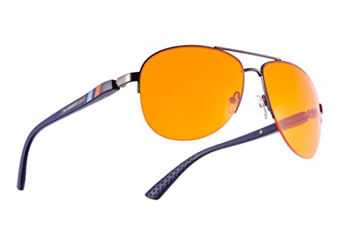 Element LUX Blue Light Blocking Glasses   Amber Tint 99% Bluelight Blocker Computer and Gaming Glasses   Promotes Sleep   Migraine Relief   Reduces Eye Strain