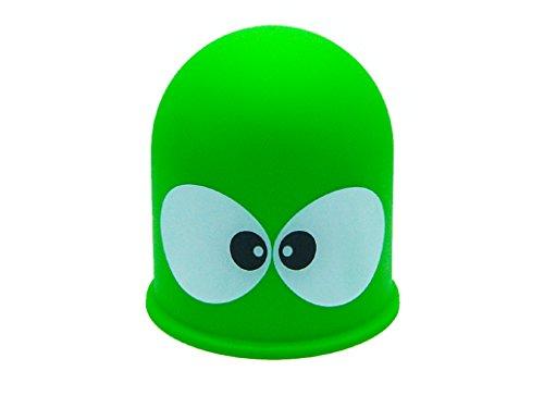 Schutzkappe Anhängerkupplung Abdeckkappe Abdeckung Kappe AHK Lustig Geschenkidee Motiv: Big Eyes (Grün)
