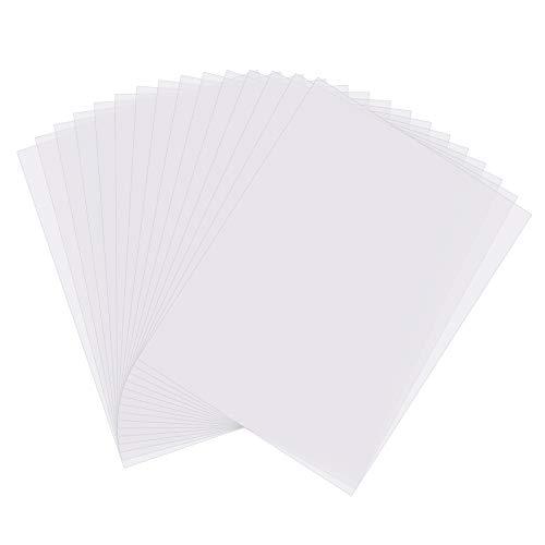 Gitua 20 Stück Overheadfolien, DIN A4 0.1MM Hochwertige Overhead Folien Transparent für Tintenstrahldrucker und Laserdrucker Kopierer OHP