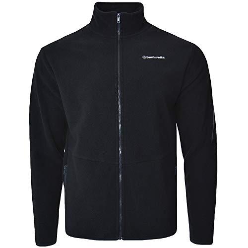 Lambretta Herren Polarfleece-Jacke mit durchgehendem Reißverschluss, langärmlig - Blau - Small
