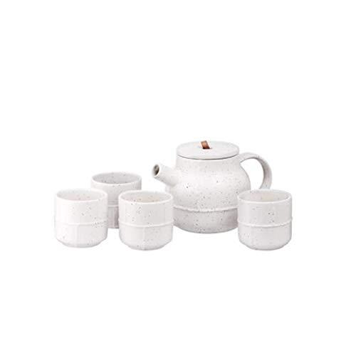 Juego de té chino, set de té de regalo, tetera de cristal con infusor, taza de té, plato de té, taza y platillo, juego de tetera, taza de té para el hogar, taza de té y taza de agua fría