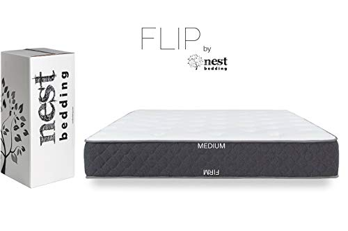 FLIP by Nest Bedding, Amazon-Exclusive Double Sided Hybrid Bed in a Box, Cooling Gel Foam and Caliber Coil, CertiPUR-US, Made in The USA