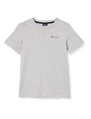 Champion Garçon Seasonal Small Logo T-Shirt, Grey (EM006), XS