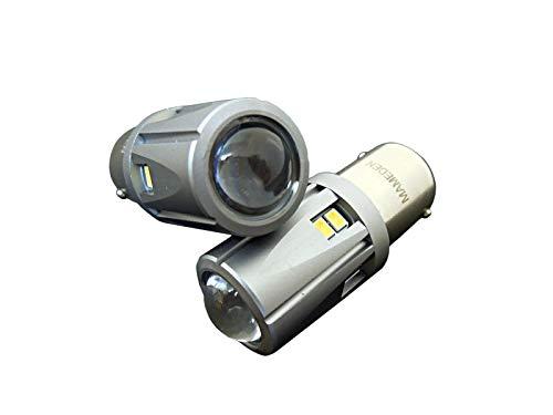 まめ電(MAMEDEN) S25 ホワイト【シングル ピン角180°(BA15s)】30SMD LED 白色【バックランプ専用】2個1セット