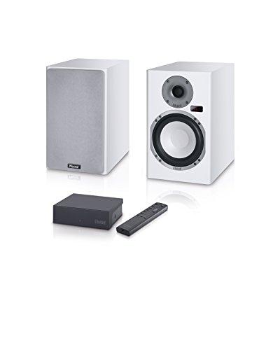 Magnasphere 33   Vollaktives kabelloses High-End-Lautsprechersystem   zahlreiche Eingänge (Cinch, Toslink, USB, Bluetooth, aptX)   1 Paar - weiss