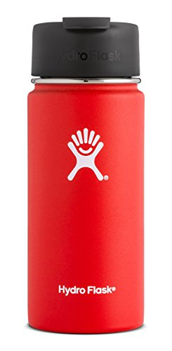 Hydro Flask 12 oz Travel Coffee Flask | Stainless Steel & Vacuum Insulated | Wide Mouth with Hydro Flip Cap | Lava