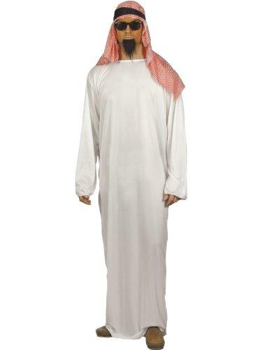 Smiffys Costume The Sheik, con lunga tunica e copricapo - BIANCO - MISURA L