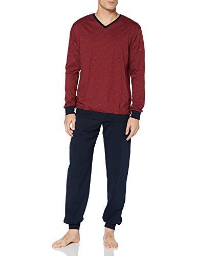 Schiesser Herren-Schlafanzug Single-Jersey Bordeaux/Marine Größe 54