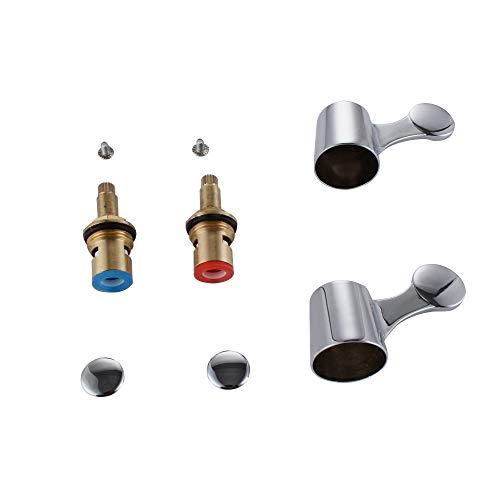 KES Vierteldrehung Wasserhahn Ventile/Patronen mit Metallhebel Köpfe für Küche Bad Armatur Wasserhahn Chrom, PCH200A3