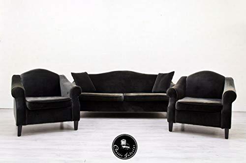 Classic Interior Glööckler Designer Sofa Sessel Hocker Alcantara Sofagarnitur