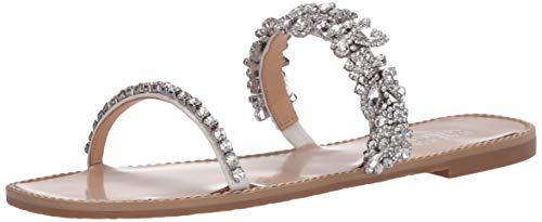 Badgley Mischka Women's Jenelle Heeled Sandal, Soft White Satin, 6.5 M US