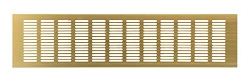 Haeusler-Shop - Rejilla de ventilación (500 x 120 mm, aluminio), color dorado