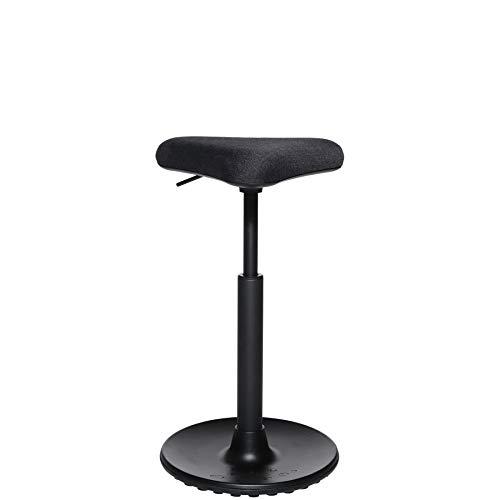 Topstar 617629 Arbeitshocker HJH SITNESS HIGH 10 Stoff Schwarz Sitz- / Stehhilfe für aktives Arbeiten, höhenverstellbar