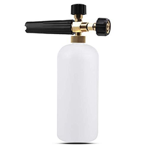 Stone Banks Espuma de jabón para Lavado de Coche con Boquilla de Espuma Ajustable, pulverizador, dispensador de jabón, Botella de 1 l y Adaptador de Rosca Macho