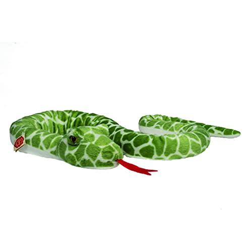 Teddy Hermann 92304 Schlange grün Gemustert 175 cm, Kuscheltier, Plüschtier