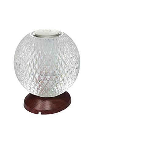 Lámpara de mesa LED Bola de cristal Lámpara de mesa de carga inalámbrica USB Proyección de proyección Atmósfera Lámpara de tres colores Lámpara Led Dormitorio Mesita de Cristal Bola de Noche