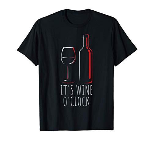 Its Wine OClock | Vino tinto Copa de vino Vino divertido Camiseta