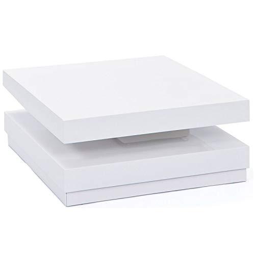Paris Prix - Table Basse Design Pivotante Serena 75cm Blanc