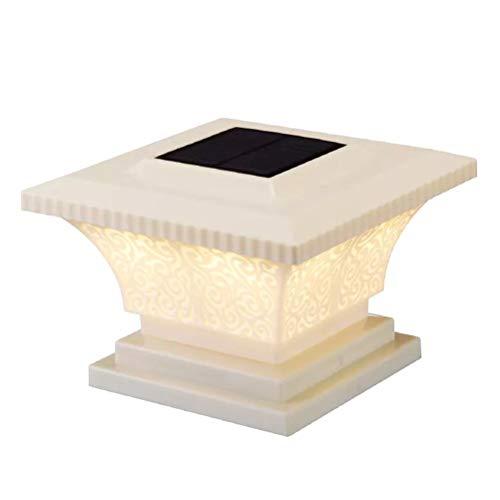 RetroFun Luces solares LED para Poste, luz de Columna Solar inalámbrica, Impermeable, césped al Aire Libre, jardín, luz Solar para Valla de Cubierta, para Postes, Patio, decoración de jardín