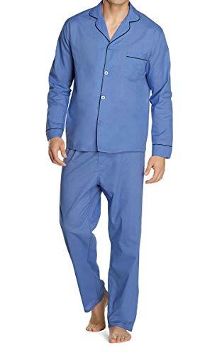Hanes Men's Long Sleeve Leg Pajama Gift Set, Blue, XX-Large