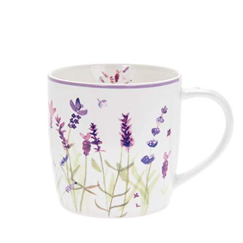 The Leonardo Collection LP94057 Tasse en porcelaine fine Motif floral Lavande Violet 12 x 9 x 9 cm
