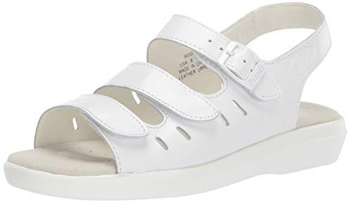 Propet Women's W0001 Breeze Walker Sandal,White Grain,8.5 W (US Women's 8.5 D)