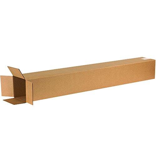 BOX USA B6648 Tall Corrugated Boxes, 6'L x 6'W x 48'H, Kraft (Pack of 25)