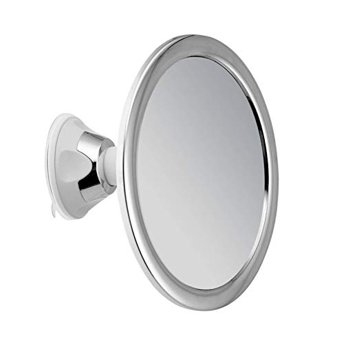 None/Brand Fogless Makeup Mirror with Holder Suction Cup 360 Rotation Fogless Suction Cup Shower Shave Make Mirror-Best for Bathroom Travel